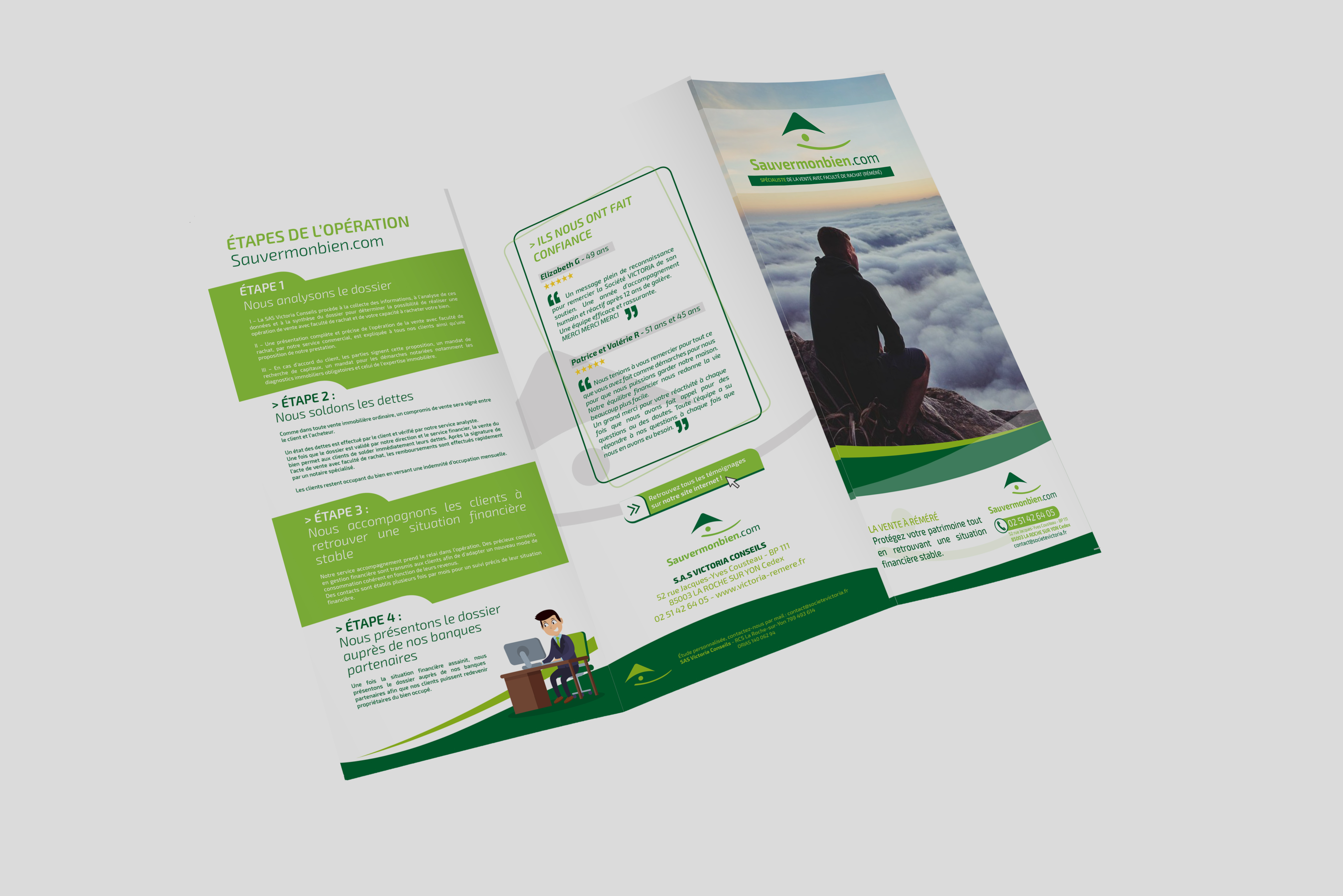 Création graphique La Roche sur Yon - Dépliant - Brochure - Kakemono