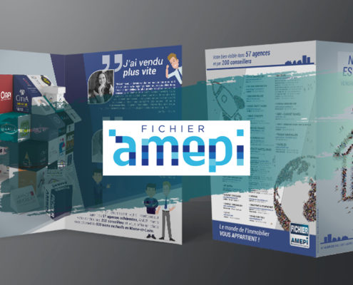 Création d'une plaquette et dépliant 2 volets - AMEPI Angers