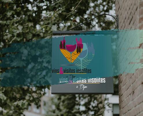 Création de logo et identité visuelle à Dijon - Vins et Visites Insolites