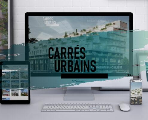 Création de site web - Carrés Urbains - Promoteur immobilier - Paris / Lyon