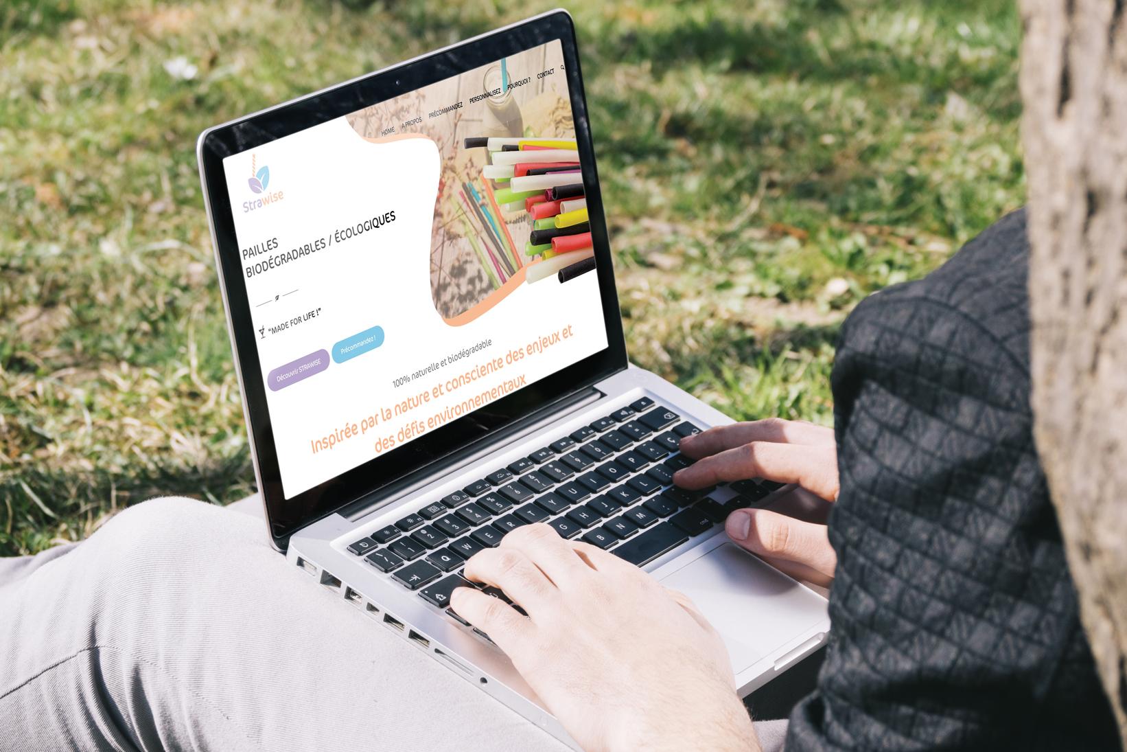 Création de site internet à Nantes / Graphisme dépliants 3 volets - Strawise